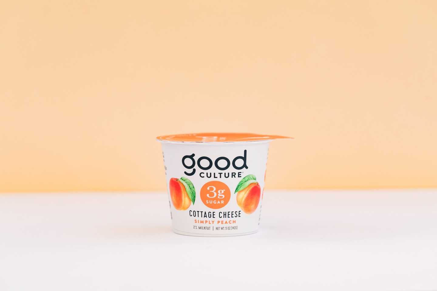 good culture simply peach cottage cheese