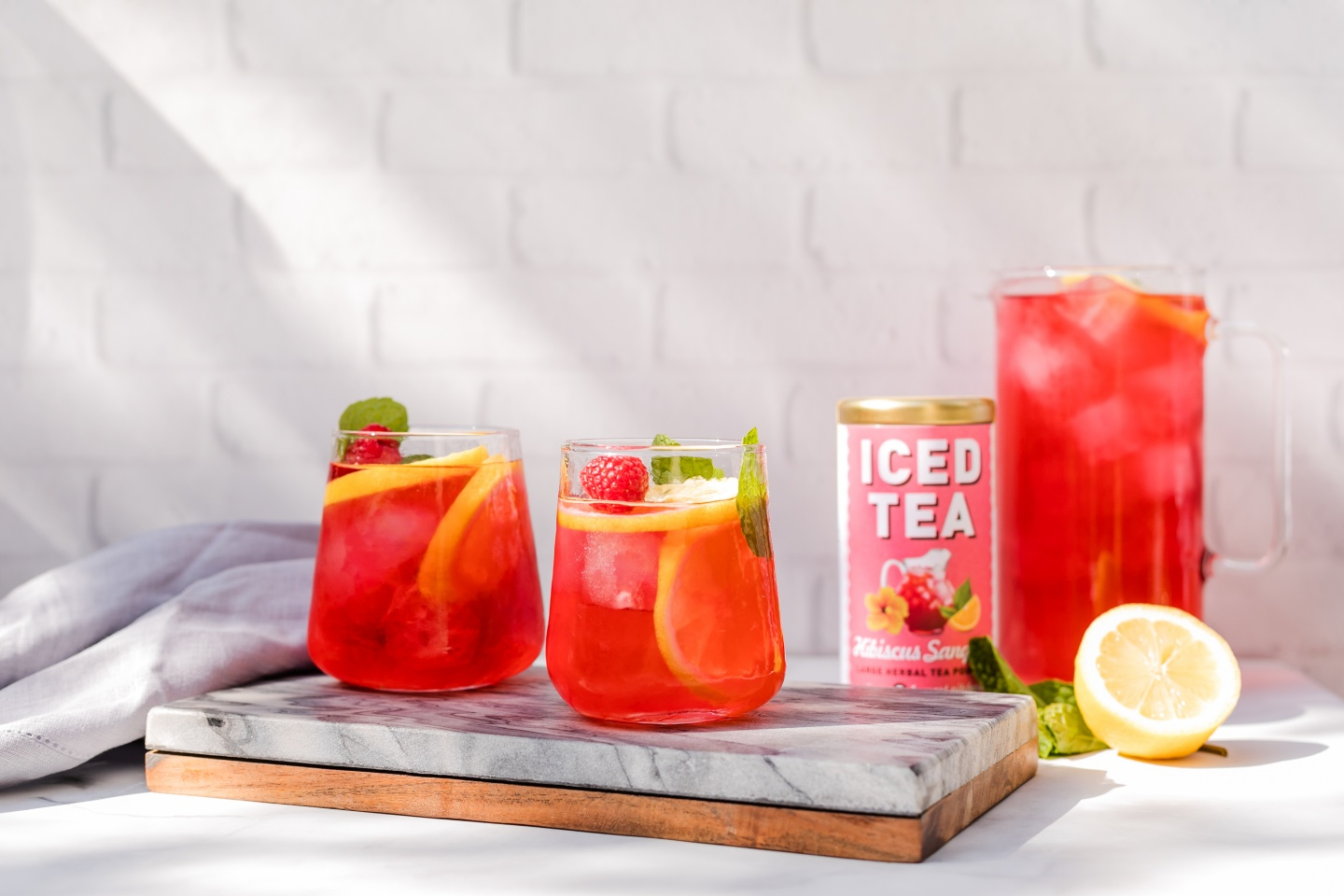 Republic of tea iced hibiscus sangria tea