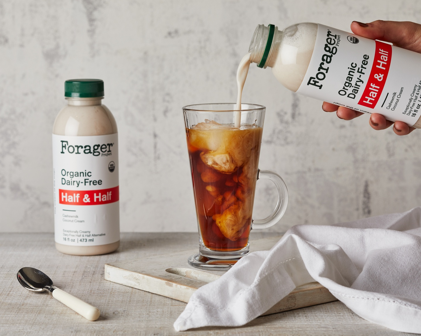 forager project half and half in iced coffee