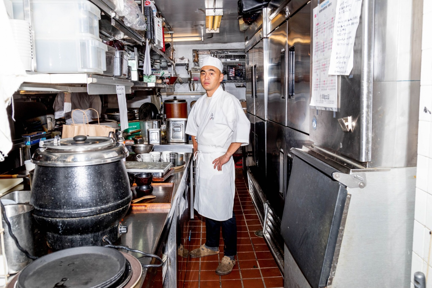 Chef in New york city kitchen